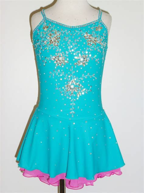 Custom Made To Fit Lovely Figure Skating Dress With