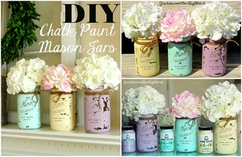 diy chalk paint mason jar youtube