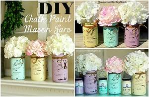 DIY Chalk Paint Mason Jar - YouTube