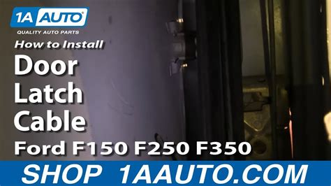 replace door latch cable   ford