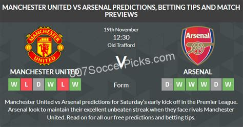 Manchester United Vs Arsenal  Prediction & Preview