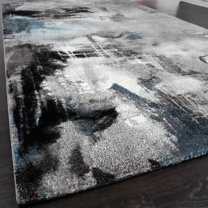 Teppich Türkis Grau : teppich modern designer teppich leinwand optik meliert grau t rkis creme teppiche kurzflor teppiche ~ Markanthonyermac.com Haus und Dekorationen