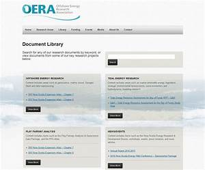 offshore energy research association halifax web design With document library organization