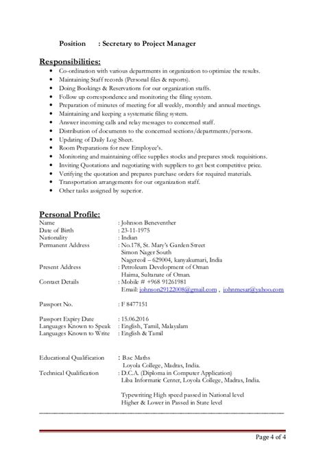 Universal Resume Objective by Updated Resume Johnson