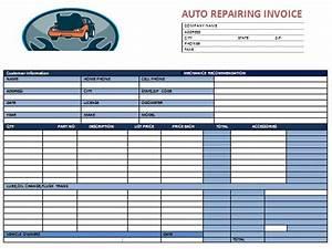 auto repair invoice template invoice example With auto repair shop invoice template