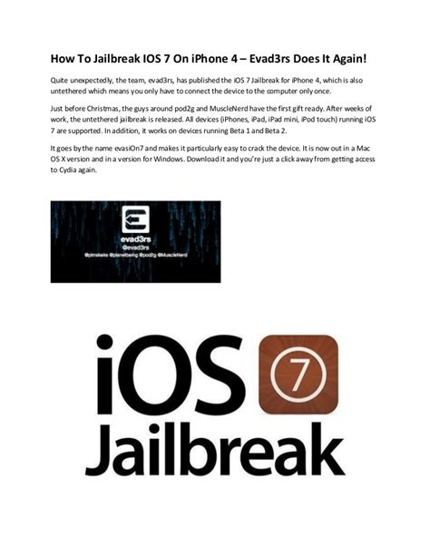 how to jailbreak a iphone 4 how to jailbreak ios 7 on iphone 4