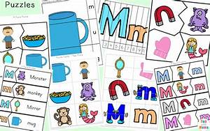 letter m worksheets fun with mama With 3 letter word building puzzles