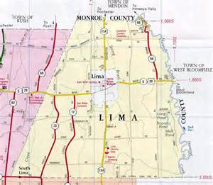 Town of Lima Livingston County NY Map