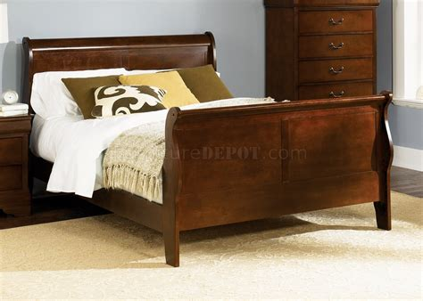 louis philippe sleigh bed whiskey finish louis philippe sleigh bed w optional goods