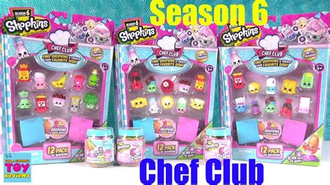 shopkins chef club season 6 12 2 blind bag opening toy review pstoyreviews youtube