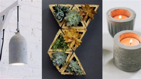 diy concrete crafts  projects