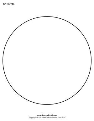 Circle Templates  Blank Shape Templates  Free Printable Pdf