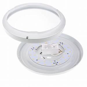 Quot flush mount led ceiling light w white housing