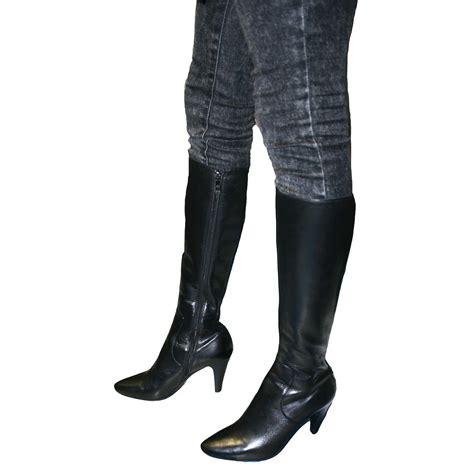 SoleMani Women's Paradise Black Leather Boots Narrow Calf