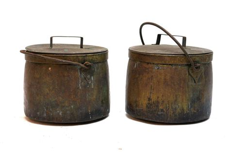 two 19th century copper cooking pots for sale at 1stdibs