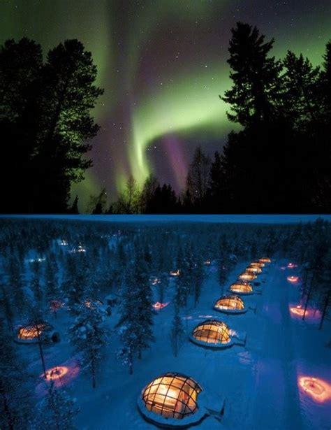 Northern Lights Igloo by Igloo Hotel Kakslauttanen In Finland Is Designed