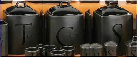 black canisters for kitchen tea coffee sugar jar set kitchen storage canisters black