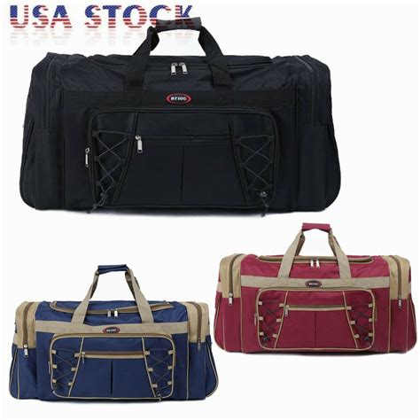 duffle bag 26 quot large duffle bag carry on overnight travel tote luggage suitcase ebay