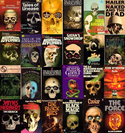 skulls  vintage book covers  frightfully overused