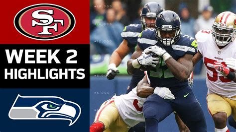 ers  seahawks nfl week  game highlights youtube