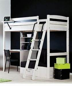 white stora loft bed from ikea spare room pinterest With loft bed with sofa and desk underneath