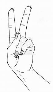Woman hand making peace gesture by GueparddeFeu on DeviantArt