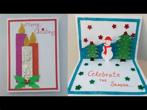 diy christmas cardmaking popup christmas card  kids