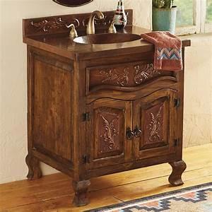 Copper, Scroll, Bathroom, Vanity