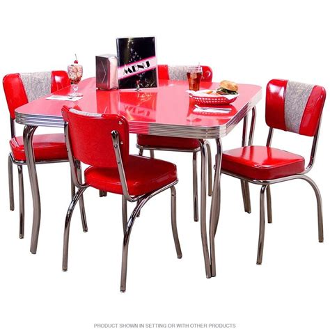 retro dining table and chairs for retro dinette set with square table cherry themed 9754