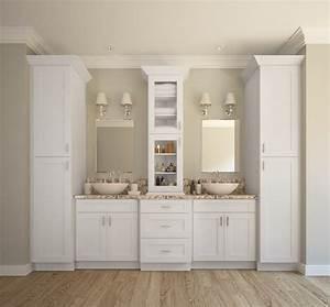 Aspen White Shaker - Ready to Assemble Bathroom Vanities