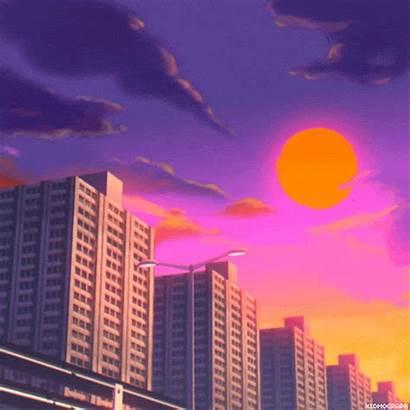 Aesthetic Anime Vaporwave Sunset Gifs Animated Retro