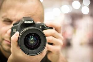 Free picture: photo camera, photographer, lens, equipment, technology, digital, photography, person
