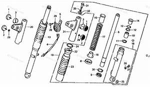 Honda Motorcycle 1978 Oem Parts Diagram For Front Fork