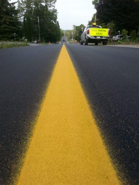 apex pavement markings  bailieboro   bb beach