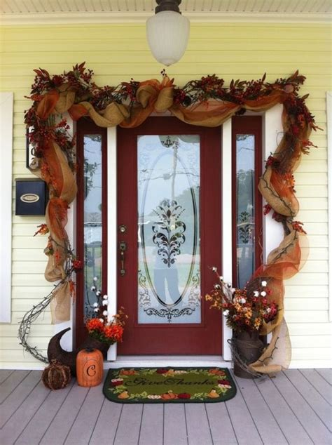 seasonal spirit  fall front door decor ideas