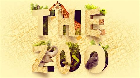 amazing cutout zoo typography text effect photoshop tutorial youtube