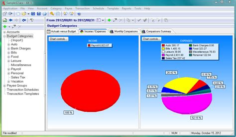 personal finance chart personal finance software sample screenshots for account