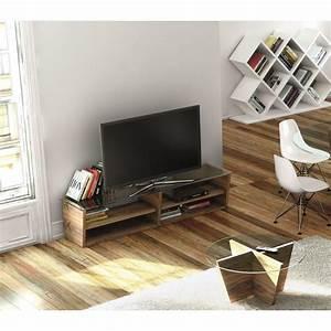 Meuble Tv 170 Cm : temahome meuble tv oliva 170cm noyer ~ Teatrodelosmanantiales.com Idées de Décoration