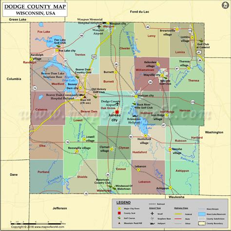 C Dodge Map by Dodge County Map Wisconsin