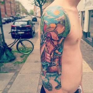 New School Half Sleeve Tattoo | Best Tattoo Ideas Gallery