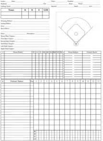 Printable Scorecard Baseball Score Sheet Templates