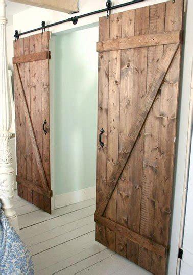 porte en bois de chambre fabriquer une porte coulissante en bois