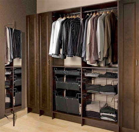 slick mens closet wall unit modern closet toronto