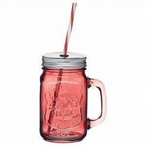 Mason Jar Paille : verre rouge mason jar paille homemade ~ Teatrodelosmanantiales.com Idées de Décoration