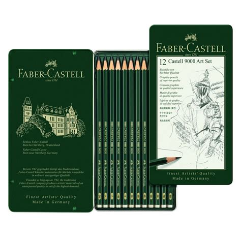 faber castell finest artist  drawing pencil tin set
