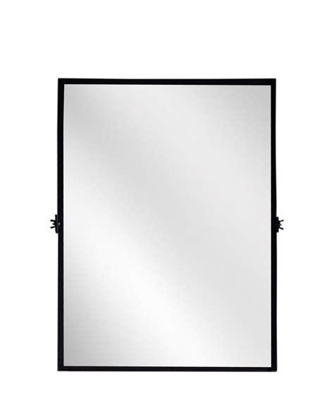Bathroom Mirrors Black Frame by Rectangular Pivot Mirror Modern Black Iron Frame With