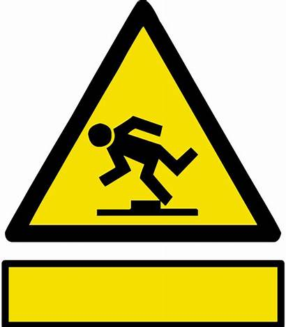 Hazard Trip Clipart Signs Safety Sign Symbol