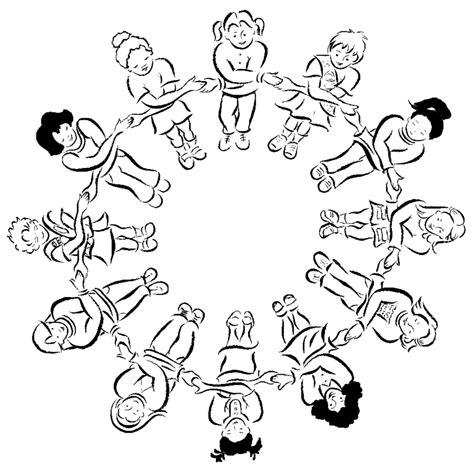 disegni bambini mondo da colorare sta disegno di grande girotondo da colorare