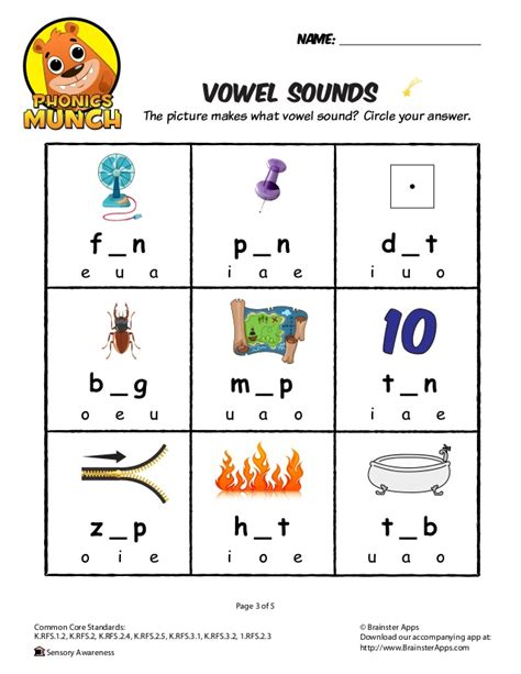 printables vowel sound worksheets mywcct thousands of