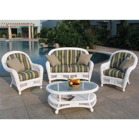 chicago wicker 174 montego 4 pc wicker patio furniture